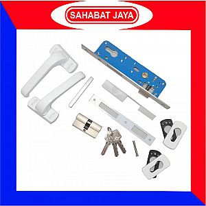 Weldom Handle Kunci Pintu Aluminium Set Putih